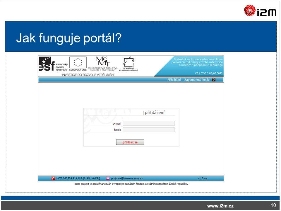 www.i2m.cz Jak funguje portál? 10
