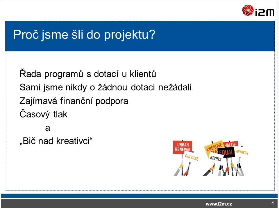 www.i2m.cz Proč jsme šli do projektu.