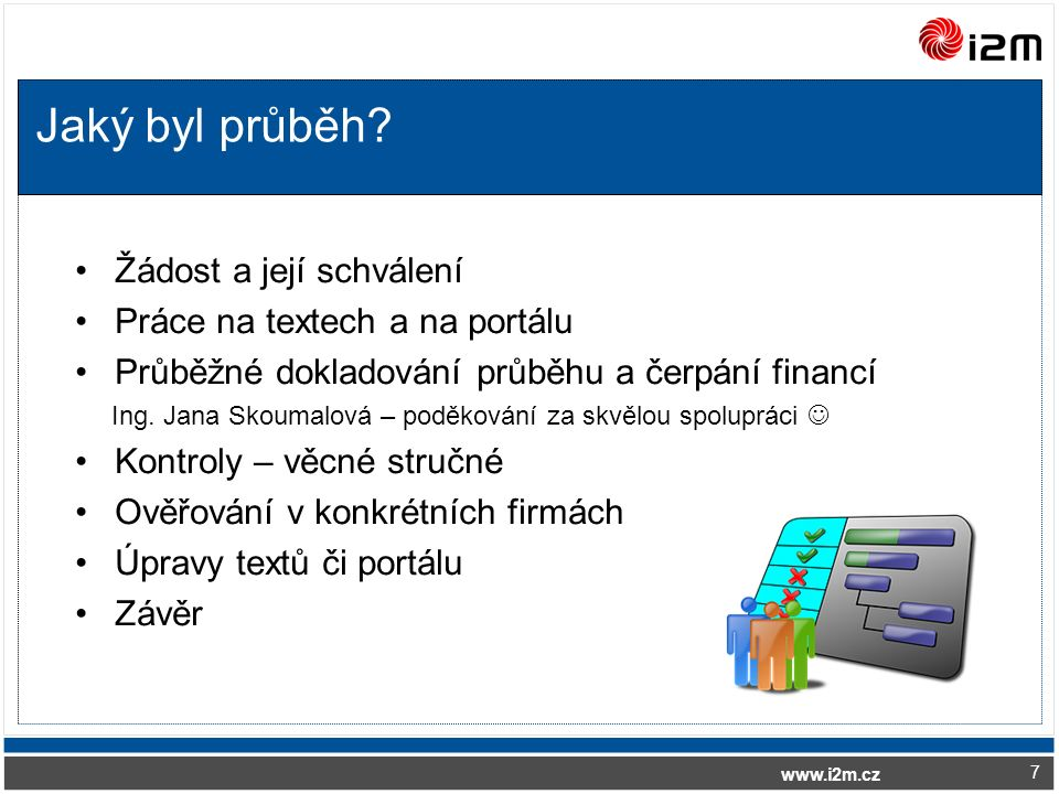 www.i2m.cz Jaký byl průběh.