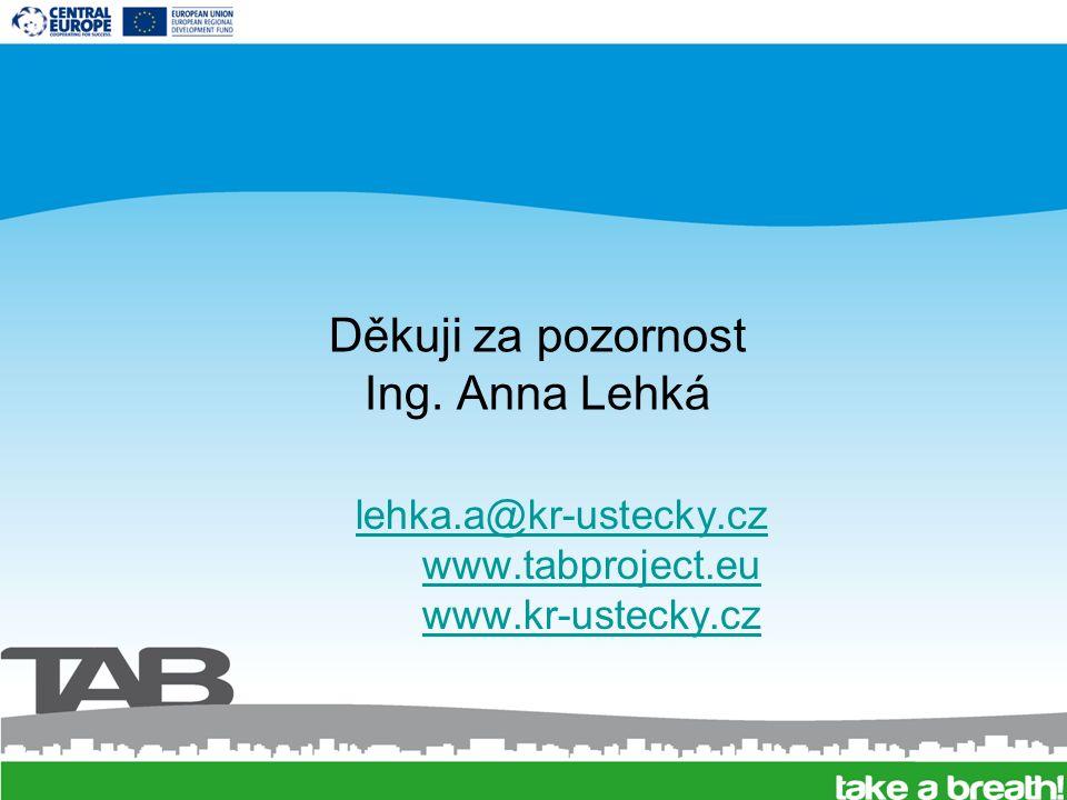 Děkuji za pozornost Ing. Anna Lehká lehka.a@kr-ustecky.cz www.tabproject.eu www.kr-ustecky.cz