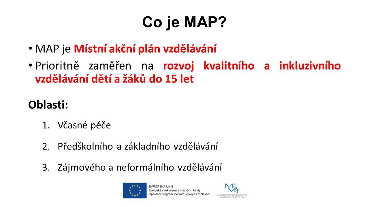 Cíl MAP: zlepšit kvalitu vzdělávání v MŠ a ZŠ Jak.