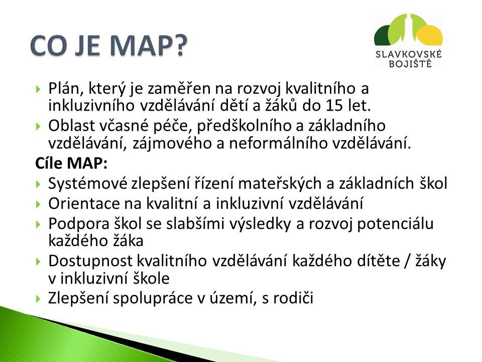  tvořen zástupci klíčových aktérů ovlivňujících oblast vzdělávání na území MAP  projednává podklady a návrhy k přípravě, realizaci a evaluaci MAP  schvaluje dokumenty vytvářené v rámci projektu, zejména strategický rámec MAP, investiční priority a konečnou verzi MAP  může vytvářet pracovní skupiny a jmenovat do nich členy  podílí se na plnění dalších úkolů spojených s procesem plánování, tvorby a schvalování MAP