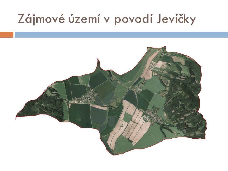Zájmové území v povodí Jevíčky