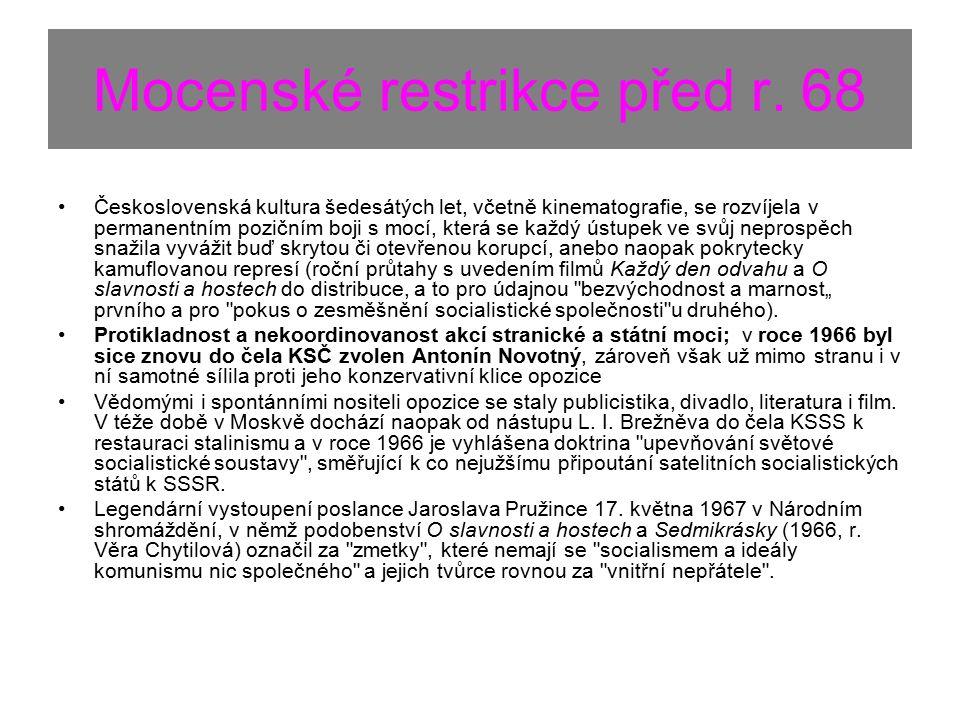 Mocenské restrikce před r.