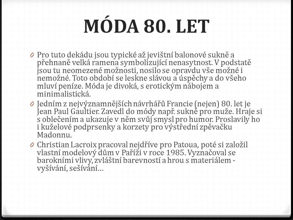 MÓDA 80.