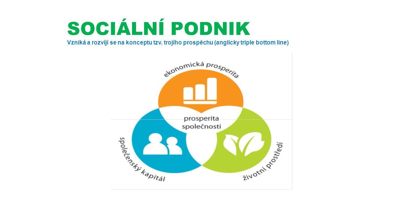 SOCIÁLNÍ PODNIK Vzniká a rozvíjí se na konceptu tzv.