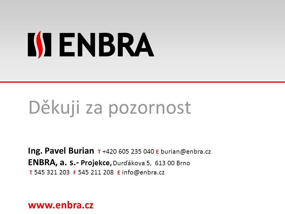 www.enbra.cz 28.9.2016Název prezentace, max. dvouřádkový 21/15 Děkuji za pozornost Ing. Pavel Burian T +420 605 235 040 E burian@enbra.cz ENBRA, a. s.