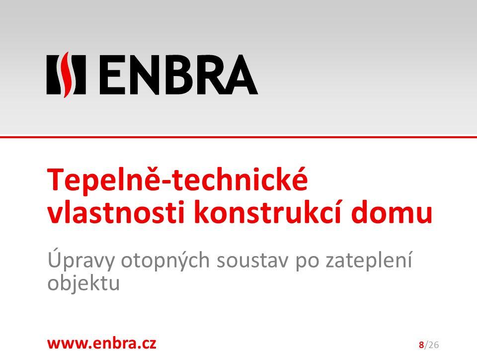 www.enbra.cz 28.9.2016 Úpravy otopných soustav po zateplení objektu 8/26 Tepelně-technické vlastnosti konstrukcí domu