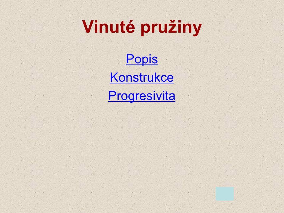 Vinuté pružiny Popis Konstrukce Progresivita