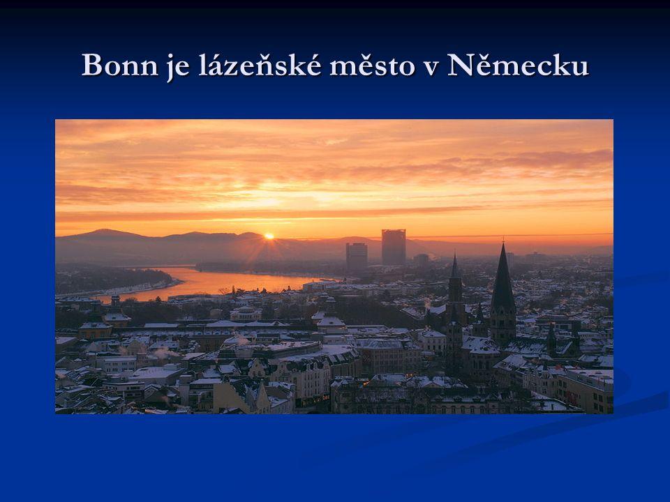 Bonn je lázeňské město v Německu