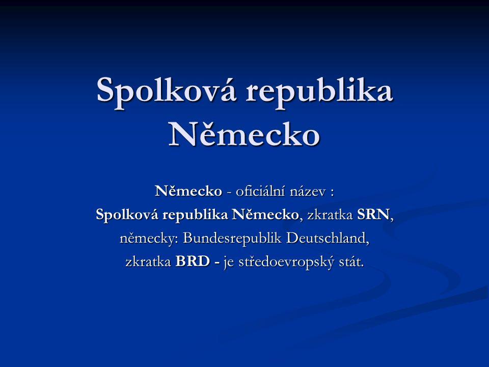 Počet obyvatel SRN 82 310 000 (14.na světě, 2006) 82 310 000 (14.