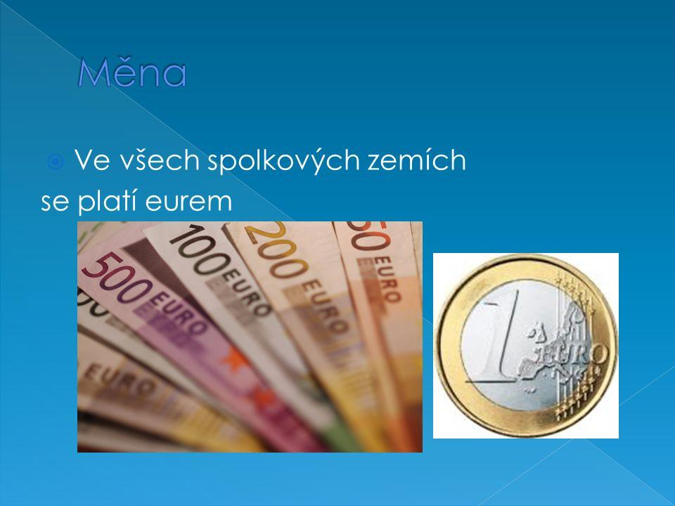  Ve všech spolkových zemích se platí eurem