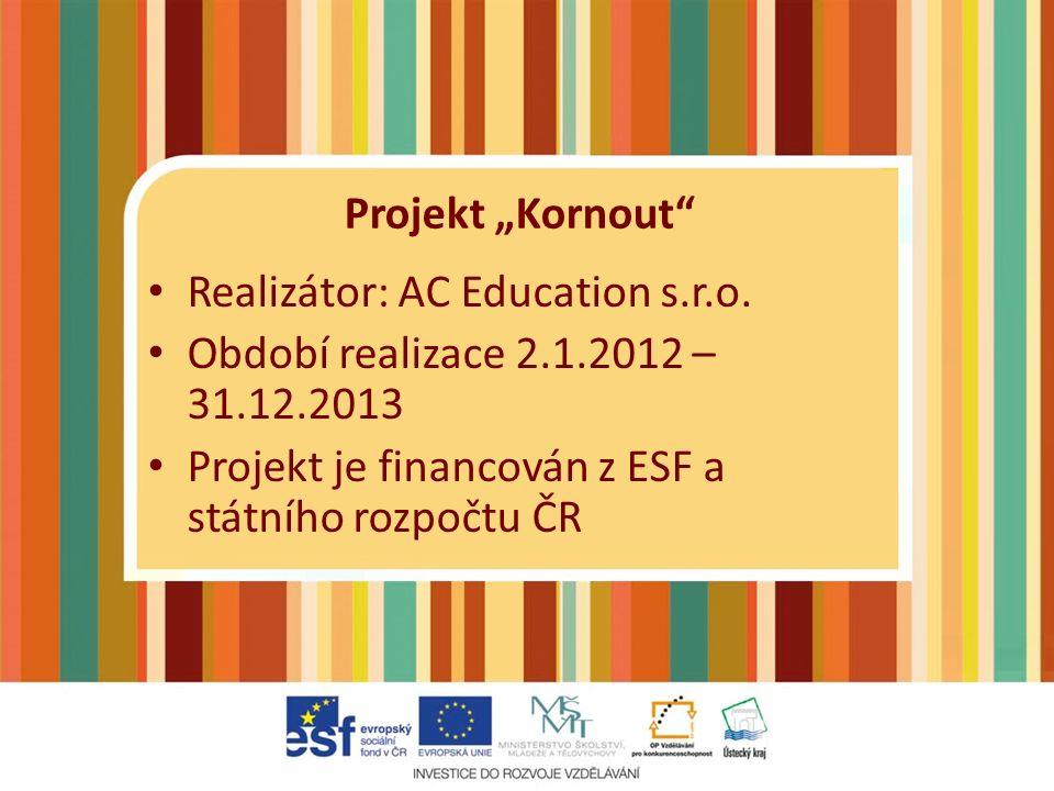Projekt byl zaměřen na zvyšování úrovně klíčových kompetencí pracovníků MŠ na Mostecku a Chomutovsku.