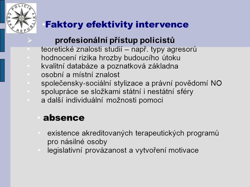  profesionální přístup policistů teoretické znalosti studií – např.