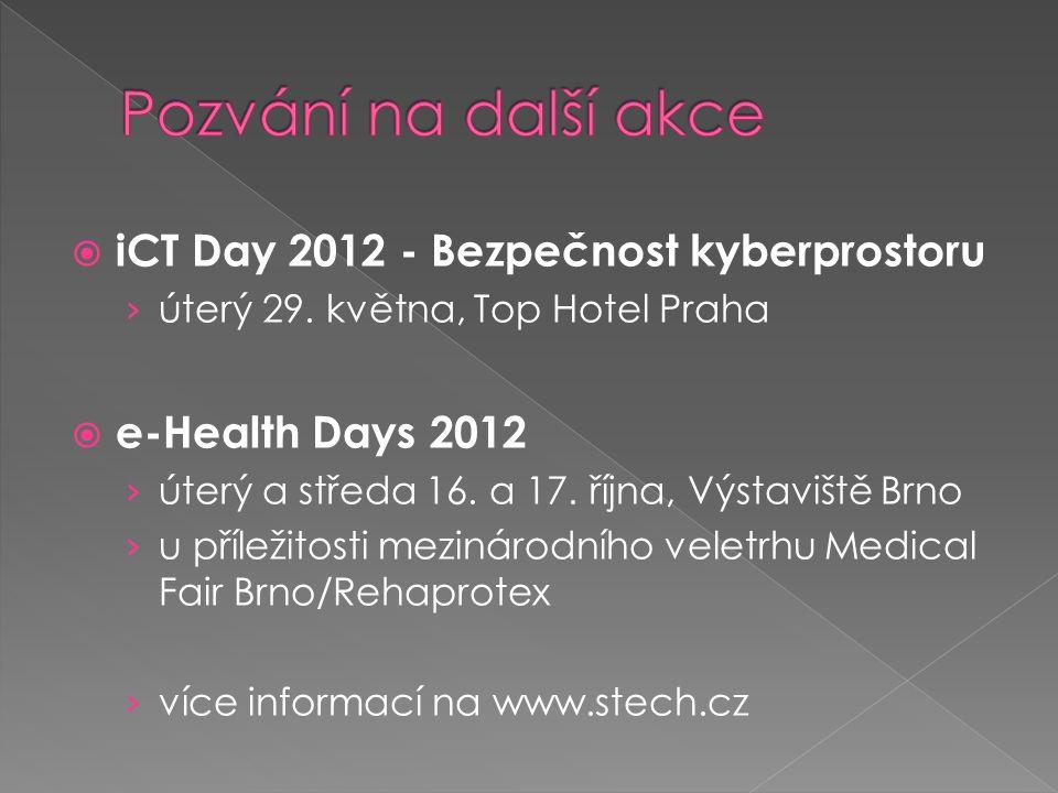  iCT Day 2012 - Bezpečnost kyberprostoru › úterý 29.