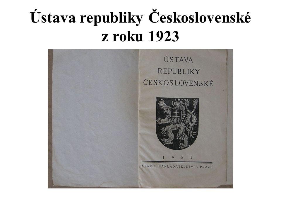 Ústava republiky Československé z roku 1923