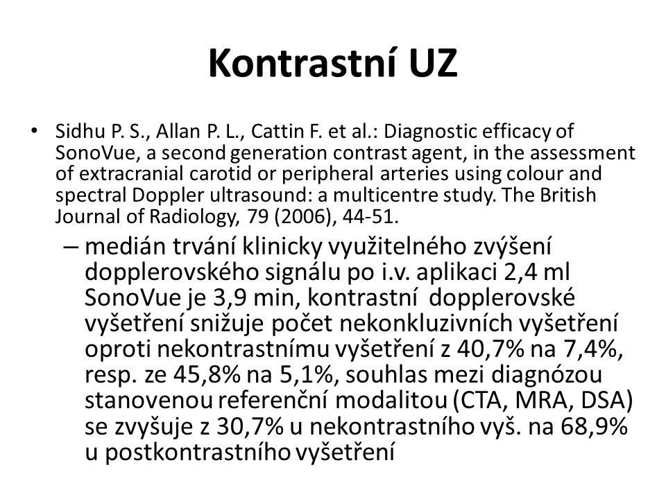Kontrastní UZ Sidhu P. S., Allan P. L., Cattin F.
