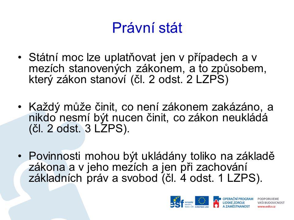 Zákonodárná moc v ČR Zákonodárná moc v ČR náleží Parlamentu Parlament je tvořen dvěma komorami - Poslaneckou sněmovnou a Senátem