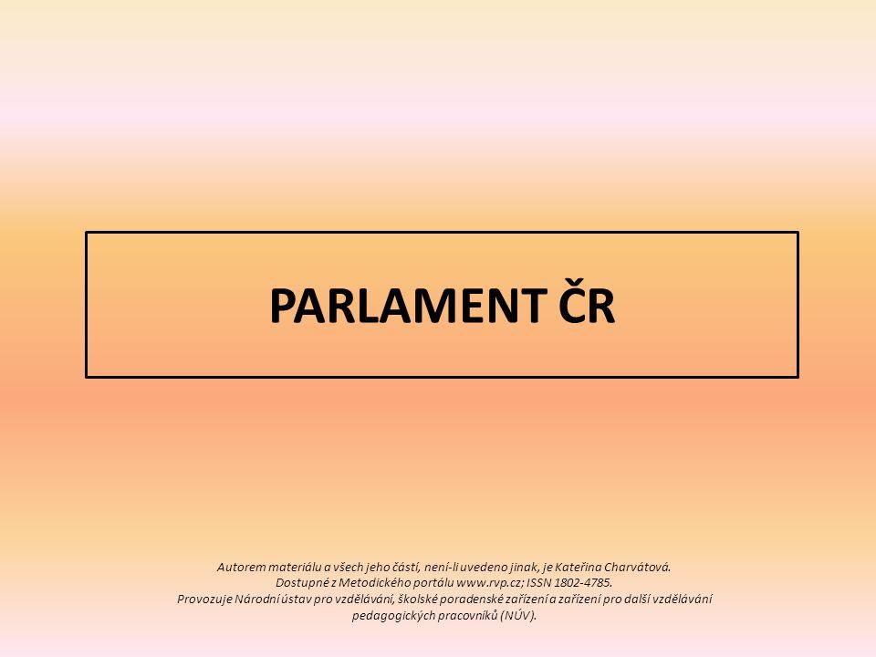 PARLAMENT ČR Autorem materiálu a všech jeho částí, není-li uvedeno jinak, je Kateřina Charvátová.