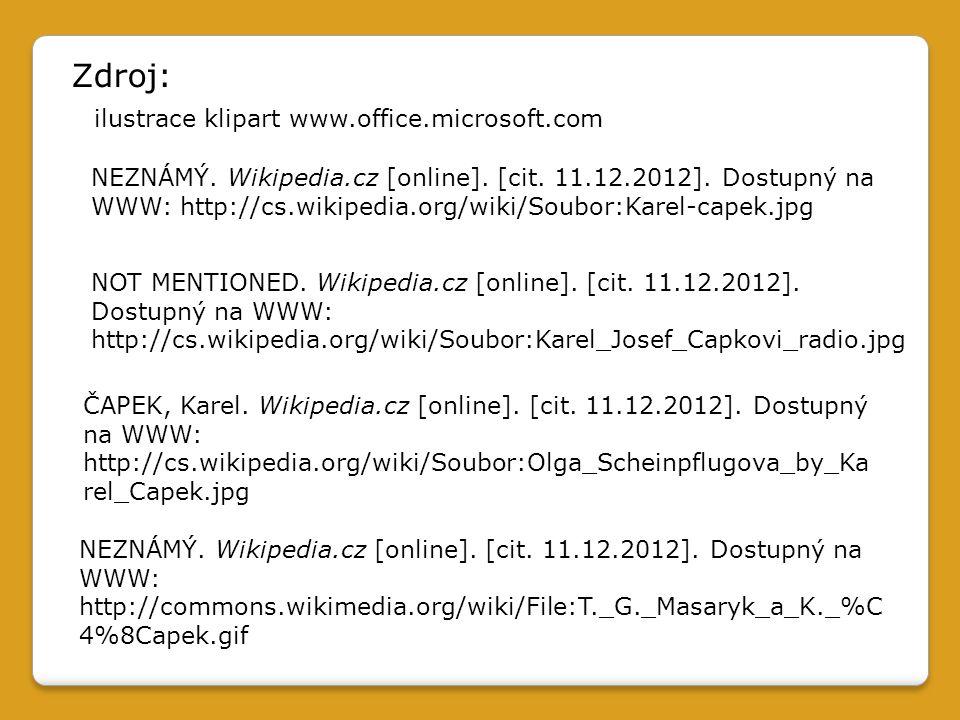NEZNÁMÝ. Wikipedia.cz [online]. [cit. 11.12.2012].