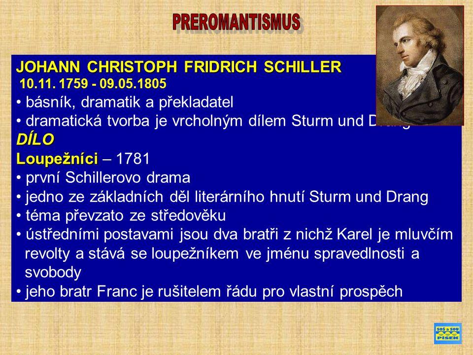 JOHANN CHRISTOPH FRIDRICH SCHILLER 10.11.