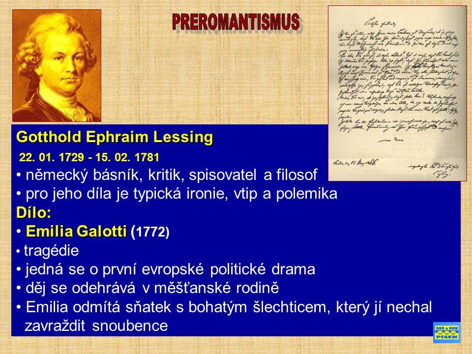 Gotthold Ephraim Lessing 22. 01. 1729 - 15. 02.