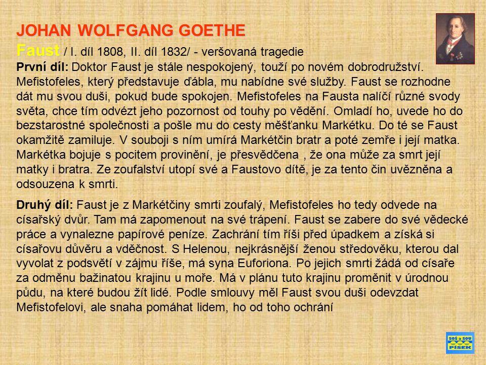 Původní legenda o doktoru Faustovi Ukázka Goethova díla