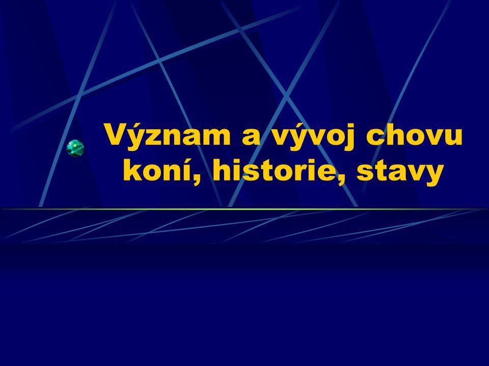 Organizace chovu koní v ČR