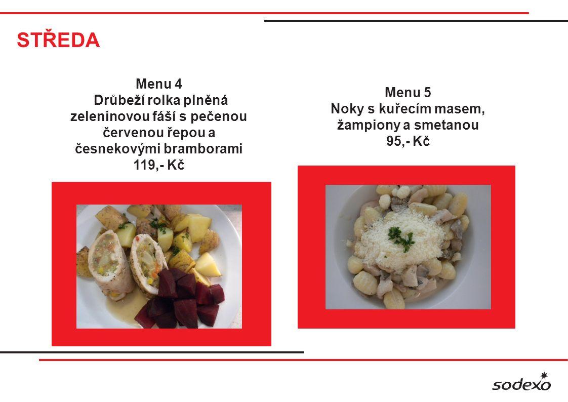 STŘEDA Grill Smažený sýr, vařené brambory, tatarská omáčka 95,- Kč