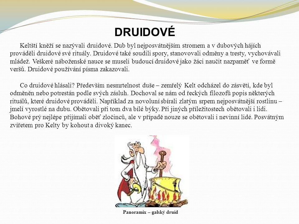 DRUIDOVÉ Keltští kněží se nazývali druidové.