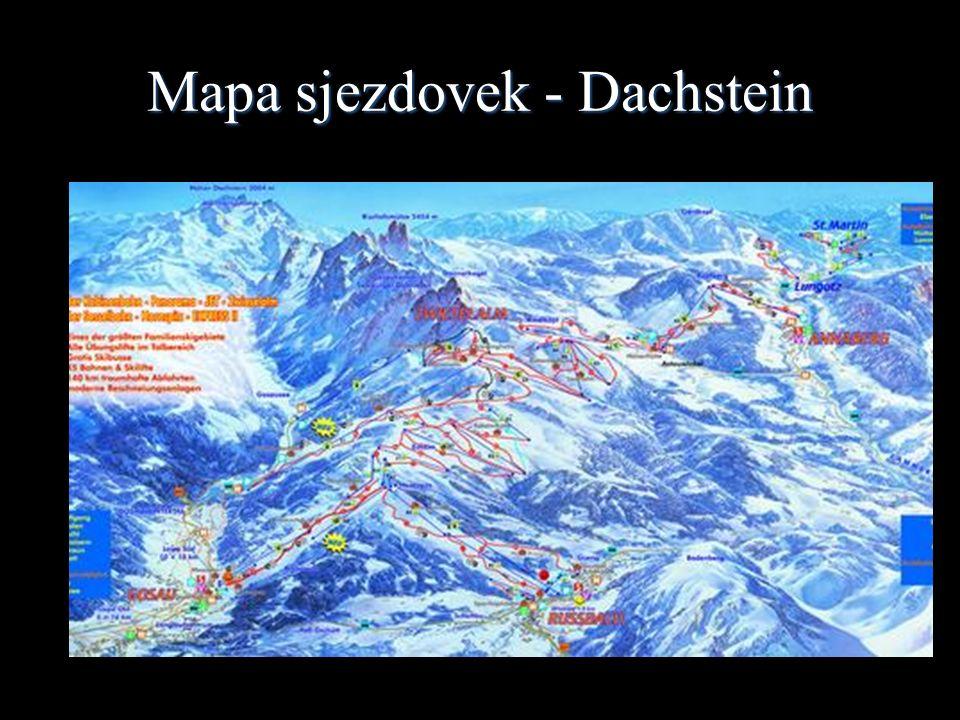 Mapa sjezdovek - Dachstein