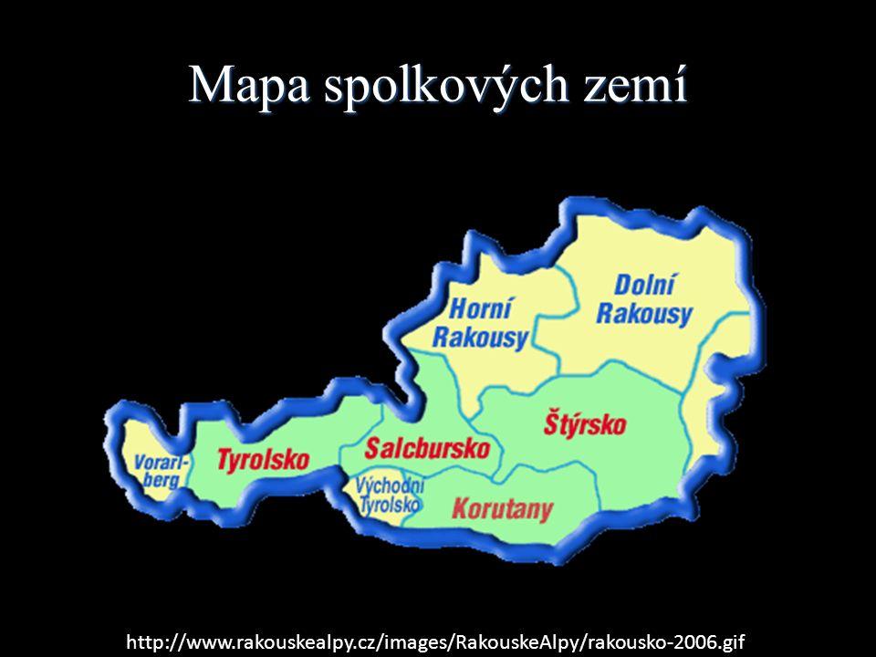 Mapa spolkových zemí http://www.rakouskealpy.cz/images/RakouskeAlpy/rakousko-2006.gif
