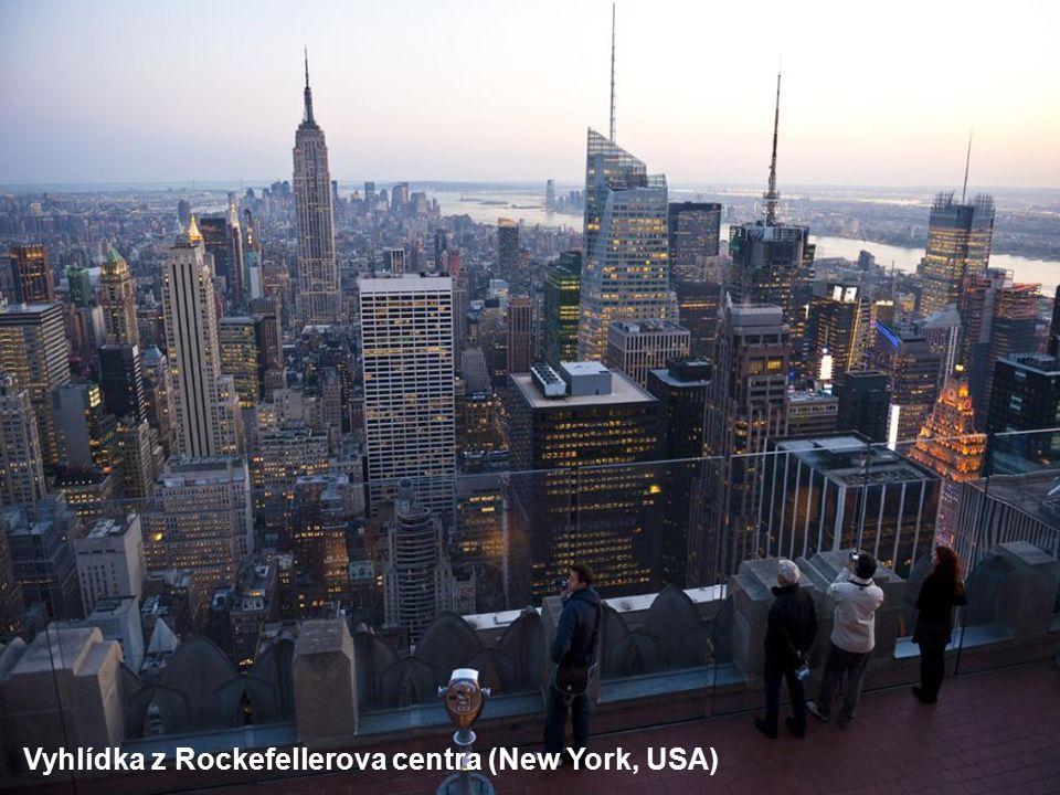 Vyhlídka z Rockefellerova centra (New York, USA)