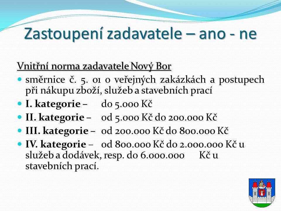 Vnitřní norma zadavatele Nový Bor směrnice č. 5.