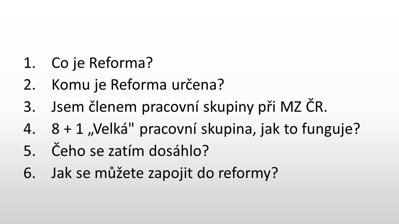 1. Co je Reforma. 2. Komu je Reforma určena. 3.