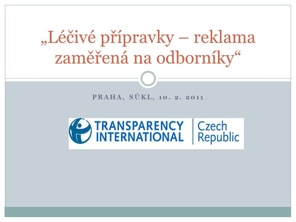 """PRAHA, SÚKL, 10. 2. 2011 """"Léčivé přípravky – reklama zaměřená na odborníky"""""""