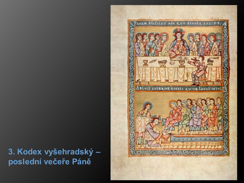 3. Kodex vyšehradský – poslední večeře Páně