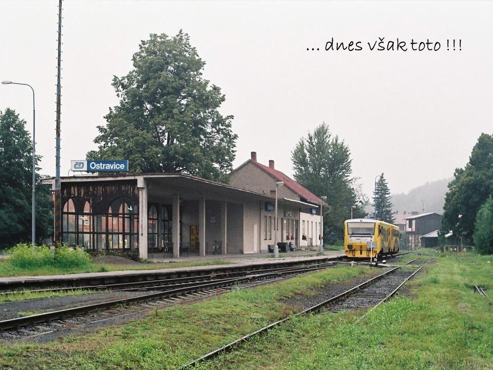"""Poslední """"nostalgický snímek z Ostravice (je starý """"jen asi 30 let) : v čele vlaku je 423 041..."""
