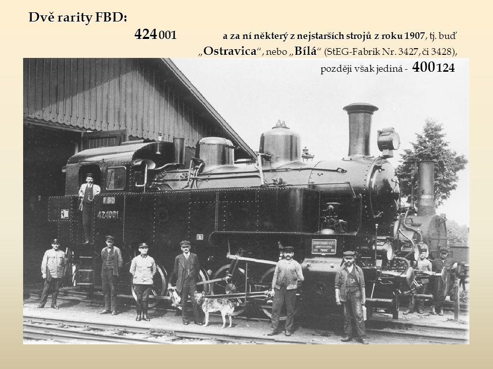"""Nejstarší stroje FBD původně vyjížděly na trať do Bílé od vlastního nádraží FBD a cestující, kteří do Frýdlantu přijeli dráhou """"Ostravsko-frýdlantskou , museli až do října roku 1910 chodit mezi oběma nádražími pěšky !!."""