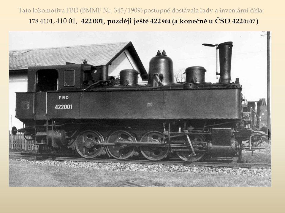 """Lokomotiva """"Bílá měla nejdřív řadové označení """"400 04 , pak """"Kryšpínovu řadu 400 903 (např."""