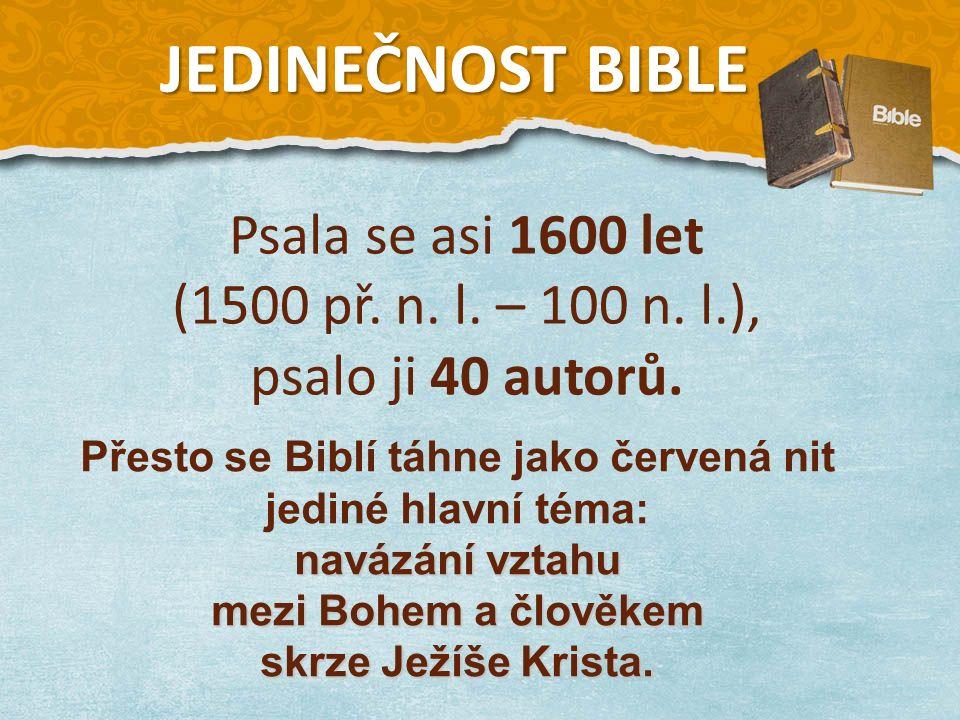 Psala se asi 1600 let (1500 př. n. l. – 100 n. l.), psalo ji 40 autorů.