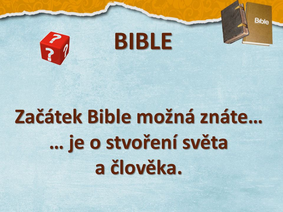 1.MAGNUSEK, Tomáš. Grafický template presentace Bible.