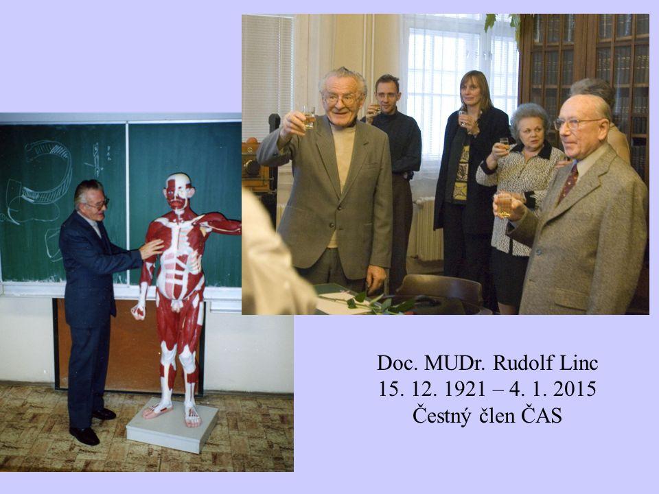 Doc. MUDr. Rudolf Linc 15. 12. 1921 – 4. 1. 2015 Čestný člen ČAS