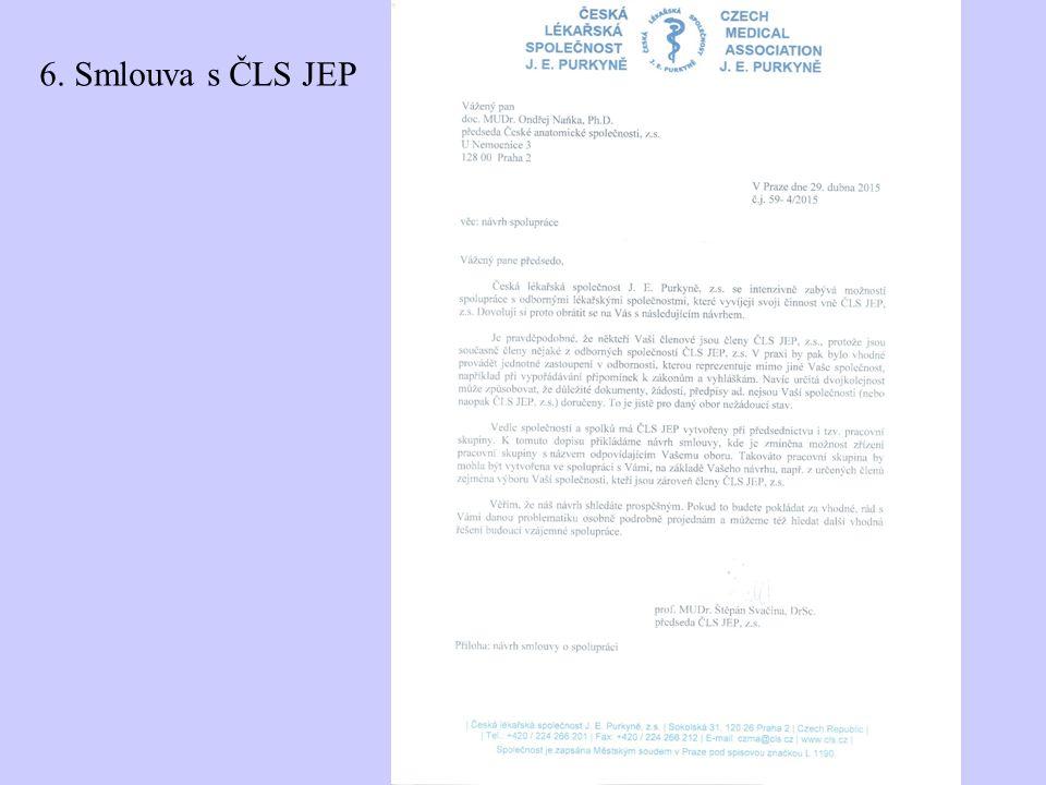 6. Smlouva s ČLS JEP