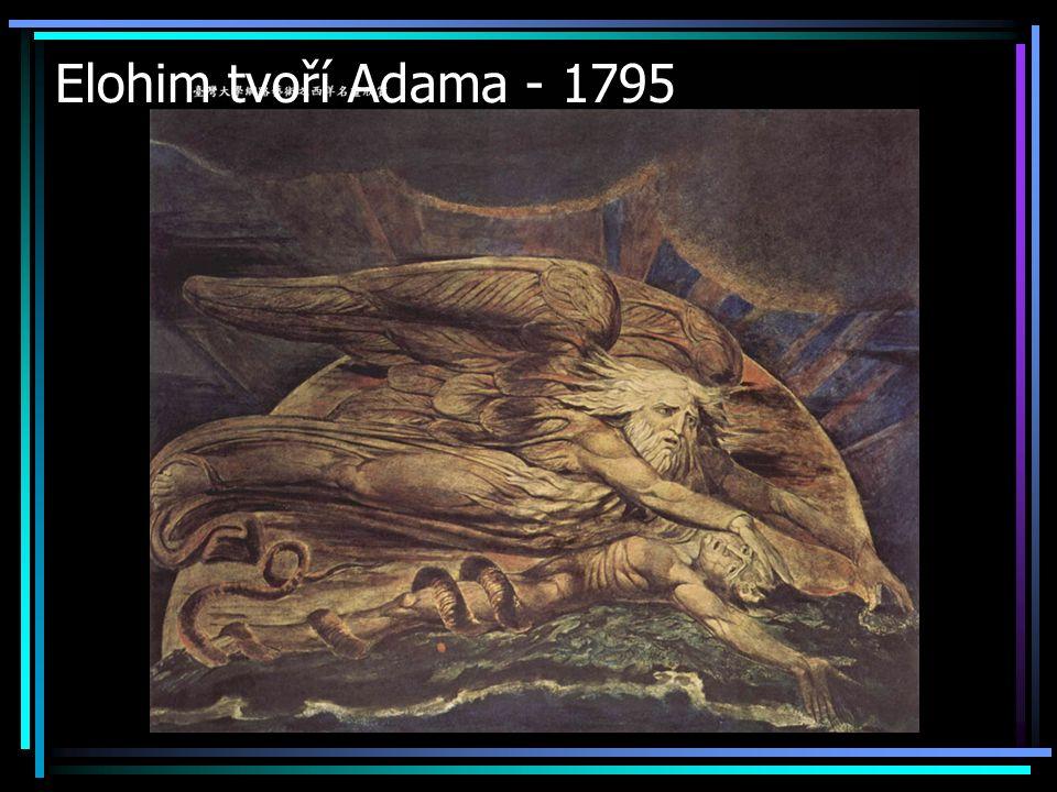 Elohim tvoří Adama - 1795