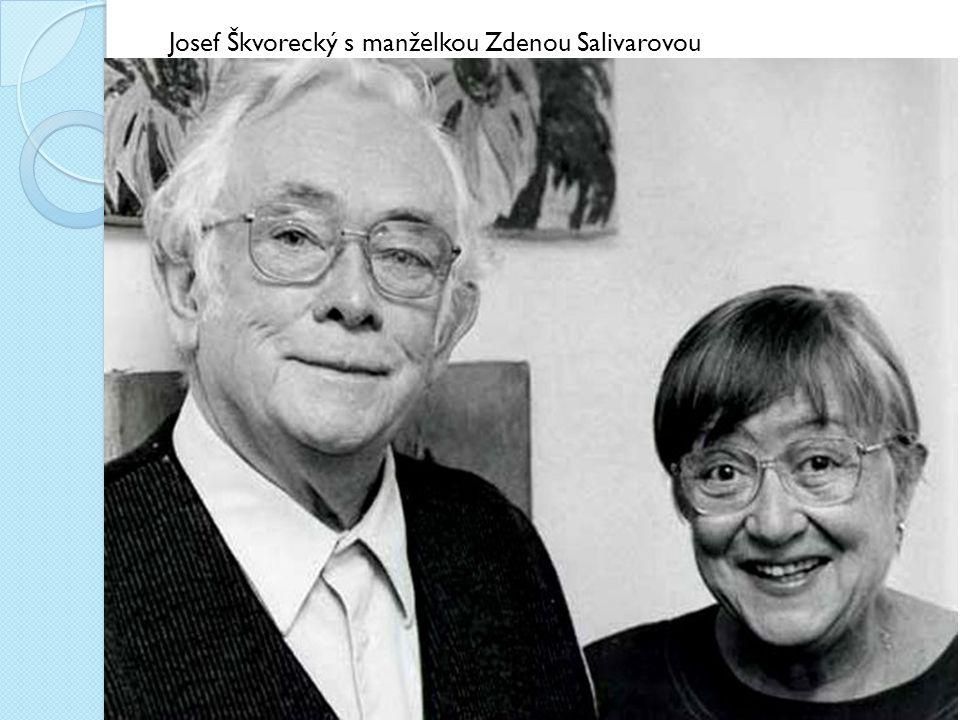 Josef Škvorecký s manželkou Zdenou Salivarovou