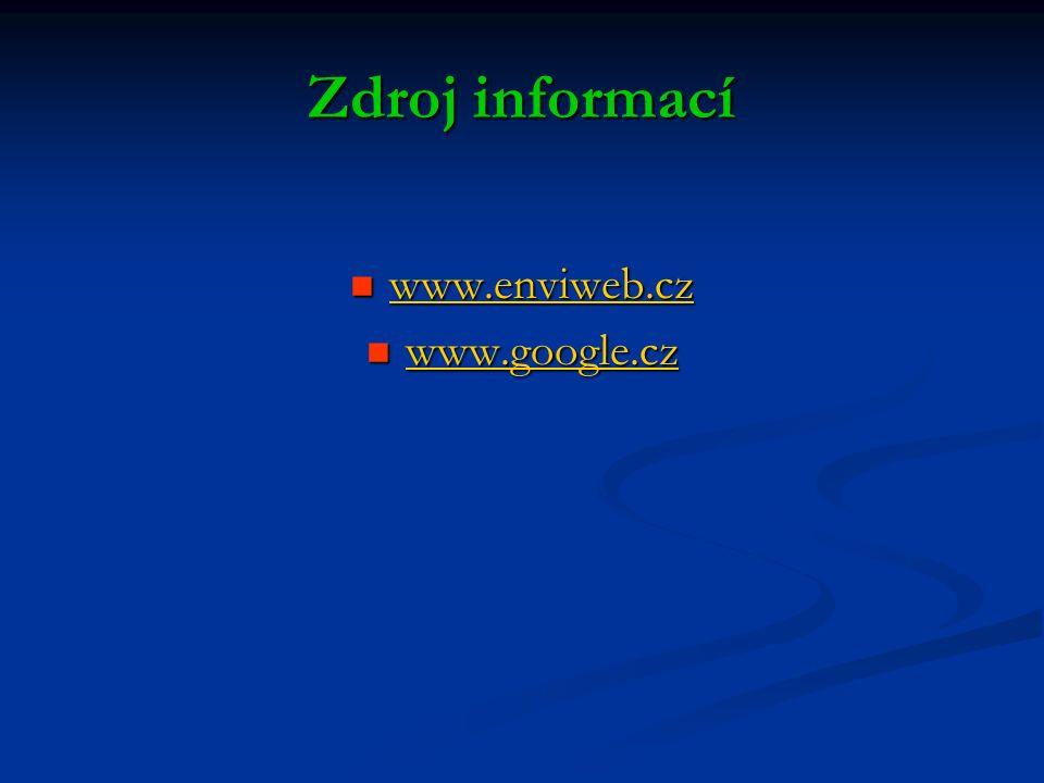 Zdroj informací www.enviweb.cz www.enviweb.cz www.enviweb.cz www.google.cz www.google.cz www.google.cz