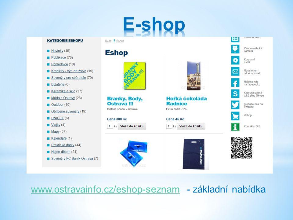 www.ostravainfo.cz/eshop-seznamwww.ostravainfo.cz/eshop-seznam - základní nabídka