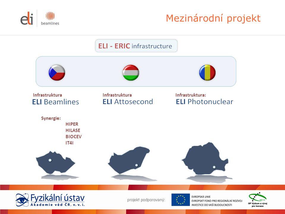 Mezinárodní projekt Synergie: HIPER HILASE BIOCEV IT4I Infrastruktura Infrastruktura: