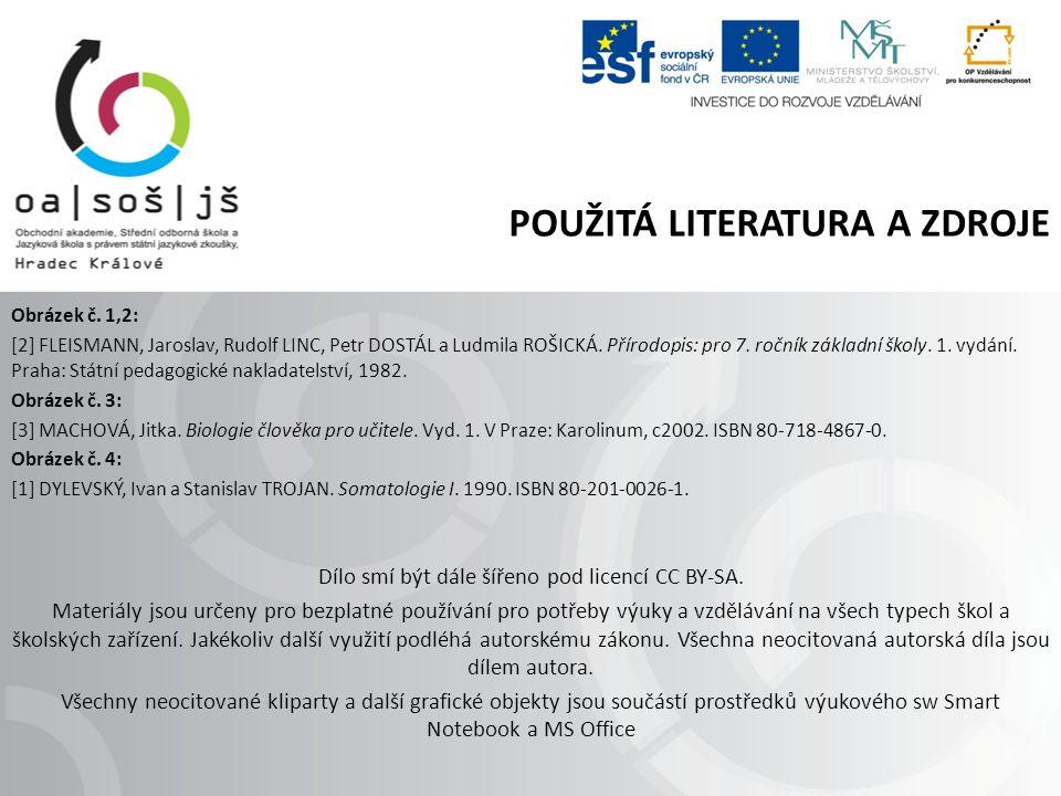 POUŽITÁ LITERATURA A ZDROJE Obrázek č.